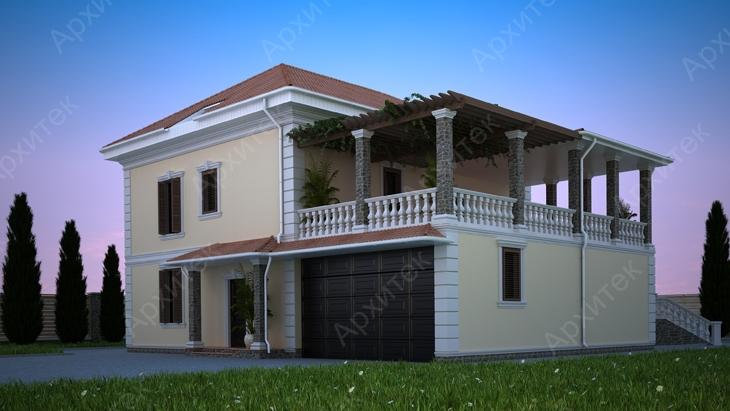 Интересный фасад загородного дома