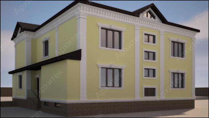 Декоративные элементы для фасадов частных загородных домов и зданий