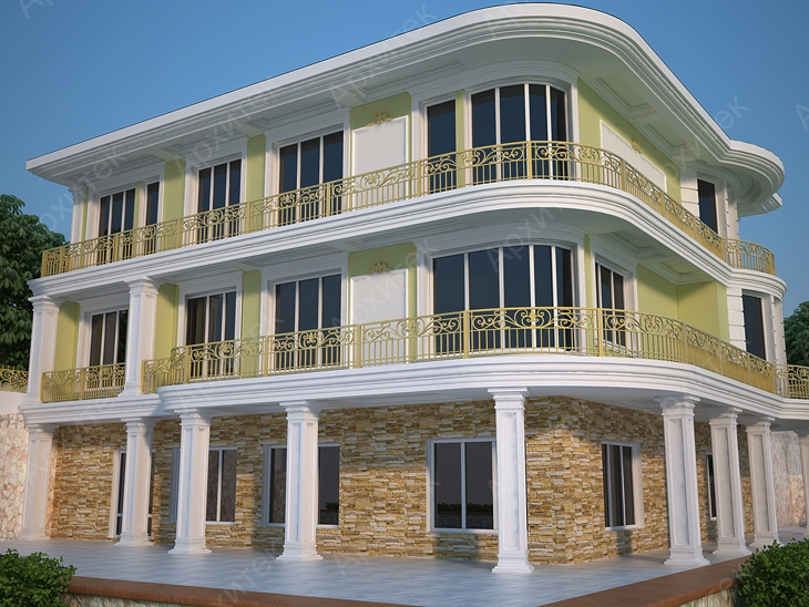 Архитектурный фасад : «визитная карточка» здания