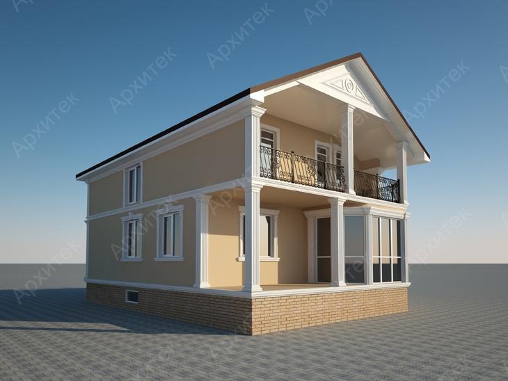 Декор фасада лепниной