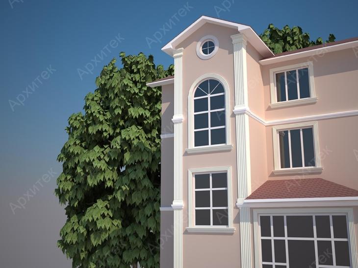 Современная лепнина для фасада