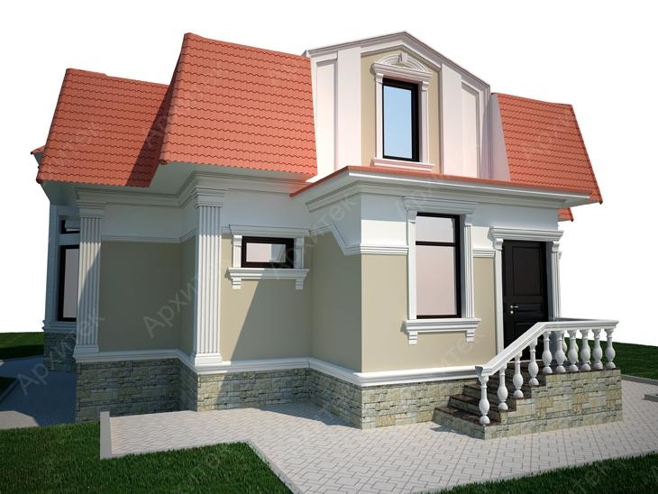 Декорирование фасада частного дома или сооружения